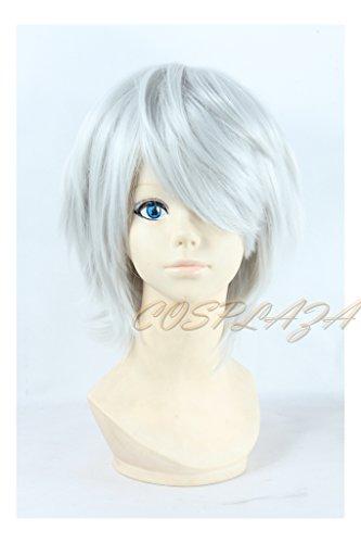 COSPLAZA kurz Weiss Perücken Cosplay Wigs Touken Ranbu Nakigitsune Short White Halloween Anime Hair (Nakigitsune Kostüm)
