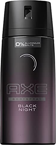 AXE Deospray Black Night ohne Aluminium, 6er Pack (6 x 150 ml) (Weiß Ingwer Parfüm)