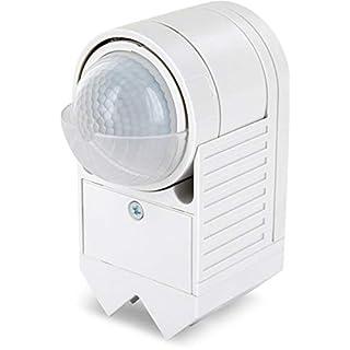 Aufputz Ecke Infrarot Bewegungsmelder IP44 360° 230V - mit Dämmerungssensor - für Aussen Feuchtraum - 3in1 Montage - LED geeignet ab 1W