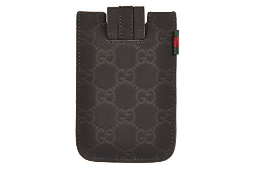 Gucci Cover Case Decken Iphone Hülle 4 4s Leder micro blu (Decke Gucci)