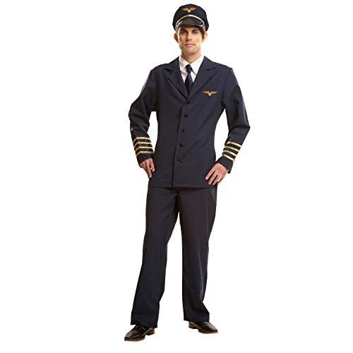 My Other Me Me-200971 azafatas Disfraz de piloto para hombre, M-L (Viving Costumes 200971