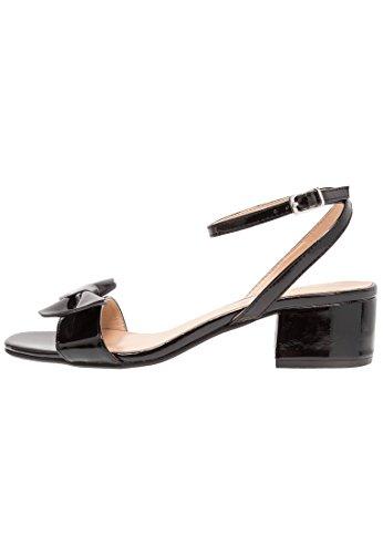 Anna field sandali con tacco medio da donna, nero, 40