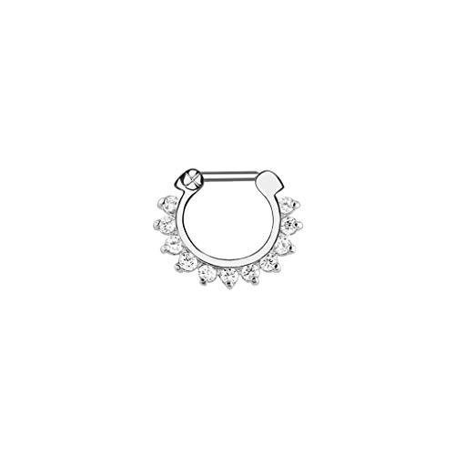 Vektenxi Frauen AAA Zirkon Zink Legierung Piercing Nase Hoop Ring Nicht allergisch Piercing Septum Schmuck bequem und praktisch