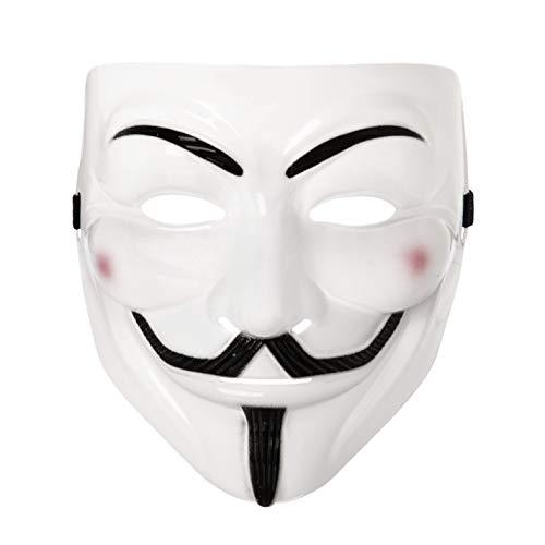 5 x Fancy Dress Erwachsene PVC-Qualitätsmaske mit Elastischer Gurt Guy Fawkes Gesichtsmaske Fancy Halloween Kostümspiel von Ultra (5 ()