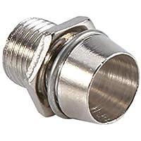 50Sets Halterungen für LED-Halterung Lampe 5mm mit der Anzeige von Panel Grundlage 8mm steigen den Faden, silberne Farbe