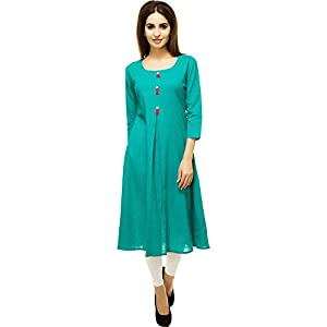 Aahwan Women's Cotton A-Line Kurta