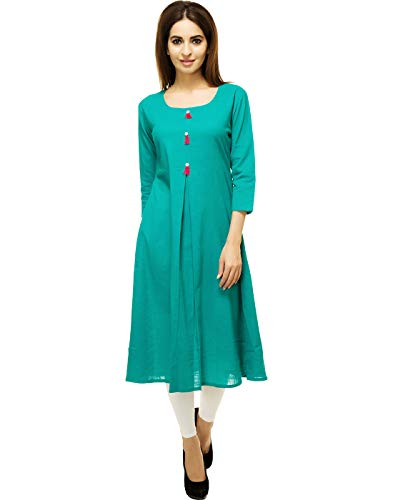Aahwan Poly Cotton A-line Kurta for Women (AC-1003)