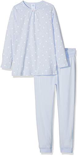 Sanetta Baby-Mädchen Zweiteiliger Schlafanzug Pyjama Long, Blau (Dove 50138.0), 86