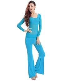 H: oter Perspektive Langarmshirt Belly Dancing Komfortable Tanzen Kostüme Set , Preis / Set - blaugrün