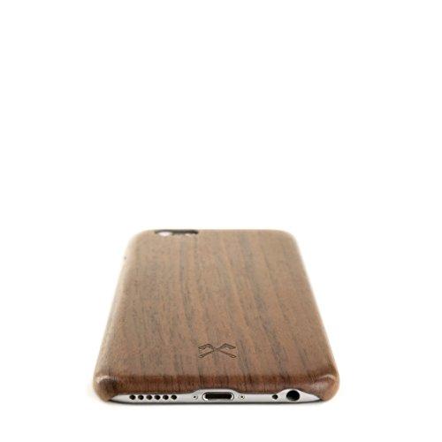 Woodcessories–-EcoCase cevlar–Premium Design Custodia, Case, Cove, protezione, Back Cover Custodia protettiva per il iphone legno certificato FSC grammi | Fatto a mano + individualmente + di alta  noce