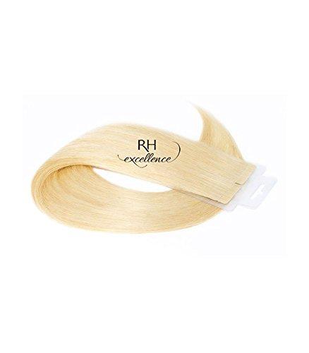 Extension bande adhésive - Extension cheveux Blond trés clair doré - 35/40 cm