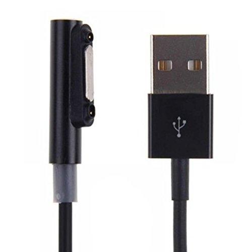 UKCOCO cavo di ricarica USB magnetico con spia LED per Xperia Z1, Z1 mini, Z2 Tablet, Z3, Z3 mini, Z3 Tablet (nero).