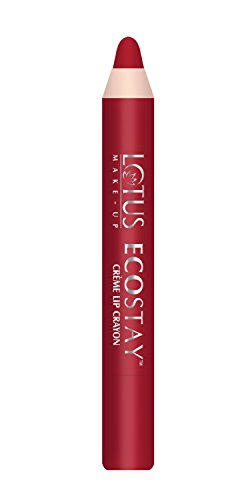 Lotus Makeup Ecostay Creme Lip Crayon, Crimson Craze, 2.8g