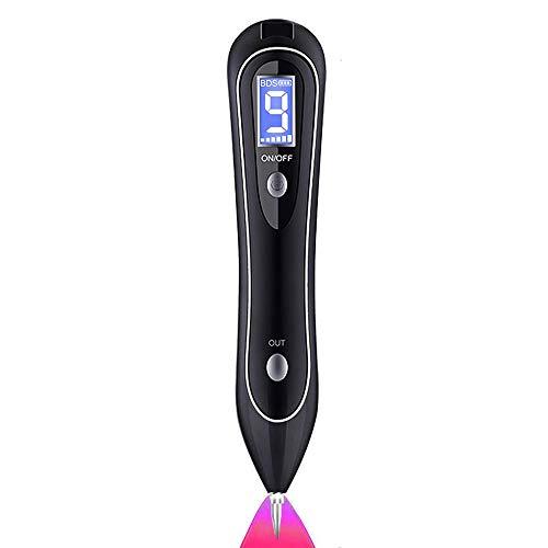 LIKEDA Skin-Tags-Entferner, Maulwurf-Entferner mit 9 Stärkeniveaus und LED-Scheinwerfer, tragbarer wiederaufladbarer für Warze, Sommersprossen, Nevus, Dark Spot und kleine Tätowierung,Black - Maulwurf-entferner