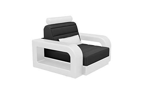 SAM Design Wohnzimmer Sessel New York in Schwarz & Weiß, Bequeme Polsterung, Pflegeleicht, futuristisches Design