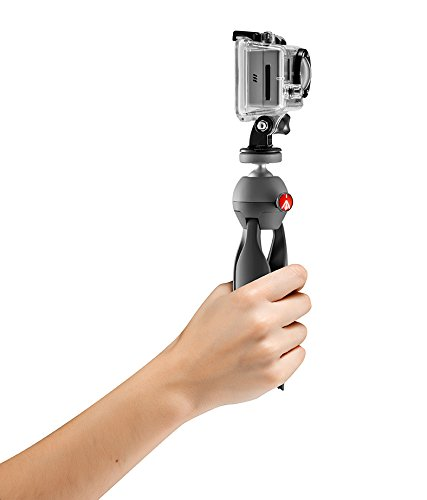Manfrotto PIXI Xtreme Mini Table Top Tripod for GoPro, Point and Shoot, or Compact Camcorder MKPIXIEX-BK