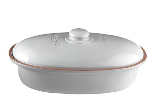 Römertopf 2 810 04 Brottopf oval Maße: 44 x 26 x 19,5 cm, weiß
