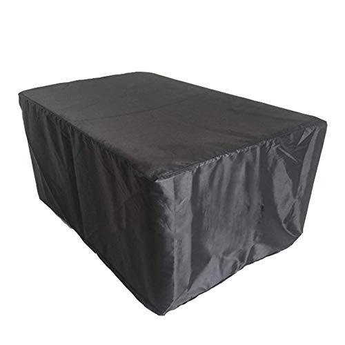 Nevy Gartenmöbel Abdeckungen Draussen Patio Tisch Und Stuhl Set Cover wasserdichte Schutzhülle,Schwarz Mini (Size : 270x180x89cm) -