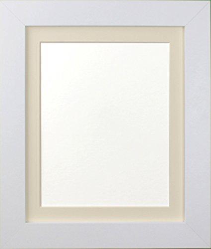 Frames By Post London weiß Bild Foto Poster Rahmen (39mm breit x 15mm tief) mit elfenbeinfarbenem Passepartout für Bildgröße 17,8x 12,7cm 12,7x 8,9cm weiß mit elfenbeinfarbenem Passepartout