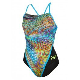Michael Phelps Snake Racing Back Women - Badeanzug Damen, Größe:36 (Womens Triathlon Racing)