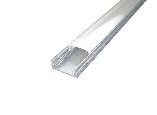 10 pezzi Profilo Alluminio ANGOLARE 45 Gradi da 1 metro per Strisce LED con Copertura OPACA cod Eurekaled 1127