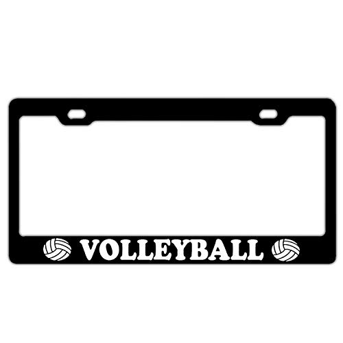 Superlicenseframe Personalisierbarer schwarzer Nummernschildrahmen mit 2 Löchern aus Aluminium, Volleyball Sports Athlete Workout (Accord License Sport Frame Plate)