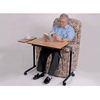 Patterson Medical - Mesa auxiliar ajustable para cama y silla