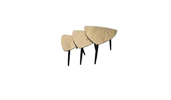 ZONS BADUS Table Basse imbriquées x3 Clair avec Empiètement
