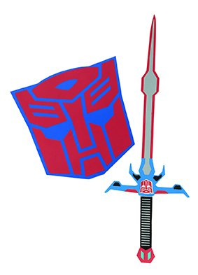 Hasbro i-33871 Schwert und Schild Set - Optimus Prime - Transformers, One Size (Optimus Prime Transformer Kostüm)