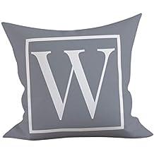 Doingshop - Funda de Almohada con diseño de Alfabeto inglés, ...