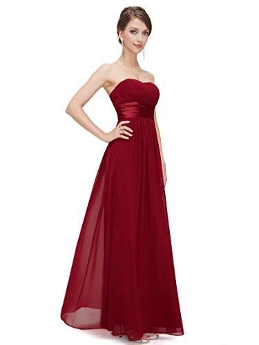 Ever Pretty Damen Empire Taille Schulterfrei Lange Abendkleider Brautjungfernkleid 44 Größe Dunkelviolett
