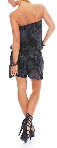 malito court Jumpsuit Romper Body Salopette 8058 Femme Taille Unique noir