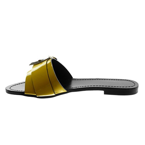 Ingiallimento 39 EU Angkorly Scarpe Moda Sandali Mules con Cinturino Alla 15t