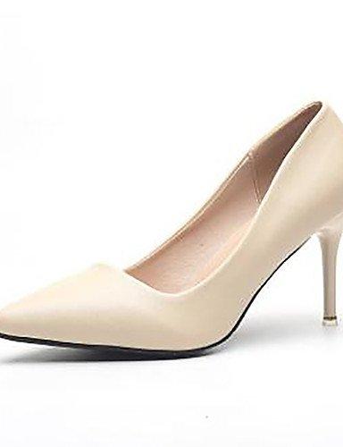 GS~LY Damen-High Heels-Kleid-Kunstleder-Stöckelabsatz-Absätze / Spitzschuh / Geschlossene Zehe-Schwarz / Weiß / Mandelfarben / Aktmalerei nude-us6.5-7 / eu37 / uk4.5-5 / cn37