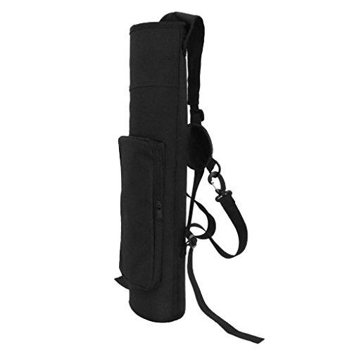 perfk Bogenschießen Köcher Tasche, Pfeil Halter Bogen Tasche mit verstellbaren Schultergurt - zwei Farbwahl - Schwarz - Halter Pfeil