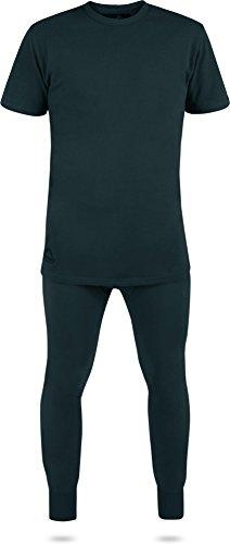 BW Unterwäsche Set aus T-Shirt und Unterhose aus weichem Plüschfutter Schwarz