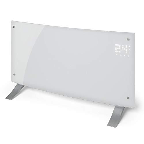 Klarstein Bornholm Curved Convector calefactor • Calefactor eléctrico • Radiador • 2000W • Modo ECO • Protección sobrecalentamiento y antisalpicaduras • Seguro para niños • Blanco