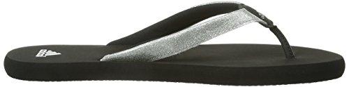 adidas  Chilwy Basic K,  Sandali unisex bambino Nero (Schwarz (Black 1 / Metallic Silver / Metallic Silver))