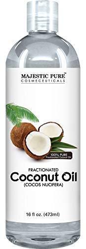 Fraktionierte Kokosöl 16 Unzen - 100% reine & Natürliche - Feuchtigkeitscreme & Softener, Ausgezeichnete Massage-Öl von Majestic pur