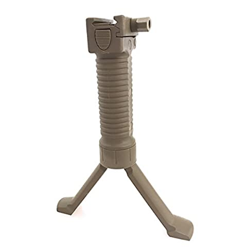 WorldShopping4U Tir tactique poignée Airsoft Paintball Weaver Facile Bouton bipied Fore Grip ajustement 20mm RIS