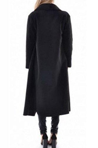 Les Manches Longues Collier Élégant Tour Automne Long Manteau D'extérieur De La Tenue Des Black