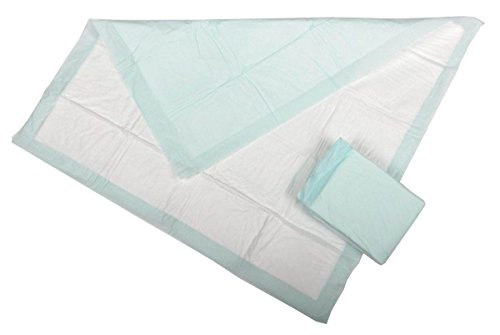 "Medline Heavy Absorbency 30"" x 36"" Fluff And Polymer Disposable Underpads, 100 Per Case, Great For Protecting Beds, Furniture, Surfaces"