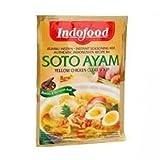 Indofood Soto Ayam, di colore Giallo Chiaro Brodo di Pollo, 45 grammo (pacchetto di 12)
