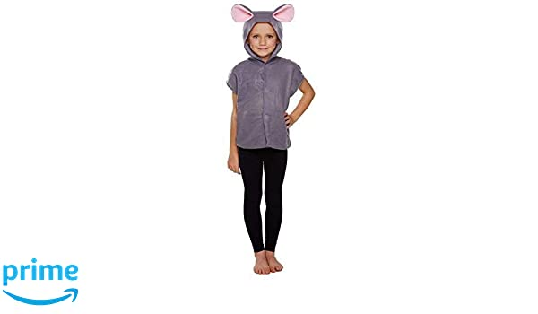 Girls Boys Childs Grey Mouse Rat Rodent Animal Fancy Dress Costume Outfit