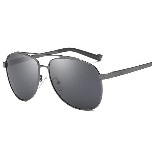 LKVNHP Neue Hohe Qualität (150Mm) Übergroße Herren Polarisierte Sonnenbrille Fahren Sonnenbrille Für Mann Breites Gesicht Sonnenbrille Männlichen Fahrer Aviation Uv400Grau