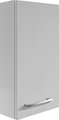 Fackelmann Hängeschrank RONDO / Schrank zum Aufhängen / Badmöbel / Maße (BxHxT): ca. 35 x 68 x 16 cm / Korpus Farbe Weiß Hochglanz / Front Farbe Weiß Hochglanz / Breite 35 cm / Schrank fürs Bad