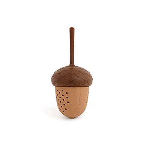 Jiali Mini-Teesieb mit Eichel, neuer Teefilter, Silikon-Tee-Leck, für Zuhause