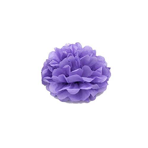 Seidenpapier PomPoms für Hochzeit Ball-Pompoms-Geburtstags-Party-Babyparty-Dekoration, Licht Lila, 10inch (Gold Earing Babys Für)