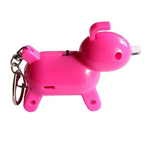 Igemy Mini Puppy Shapefinder Blueteeth Tracer Smart Kind Haustier GPS Locator Alarm Key Tracker (Rosa)