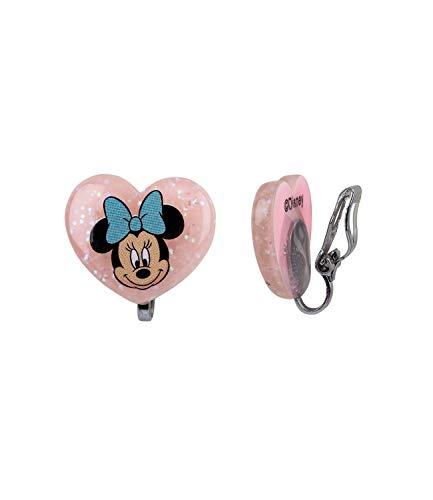 SIX Kinder Ohrringe, Ohrclips, Minnie Mouse, Disney, Herz, Schleife, Glitzer, rosa, blau (783-040)